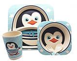 Детская бамбуковая посуда Пингвинчик, набор из 3 предметов SKL25-145864, фото 2