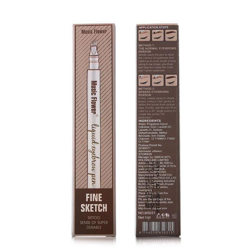 Карандаш для бровей Music Flower 01 Chestnut (коричневый темный) SKL11-145812