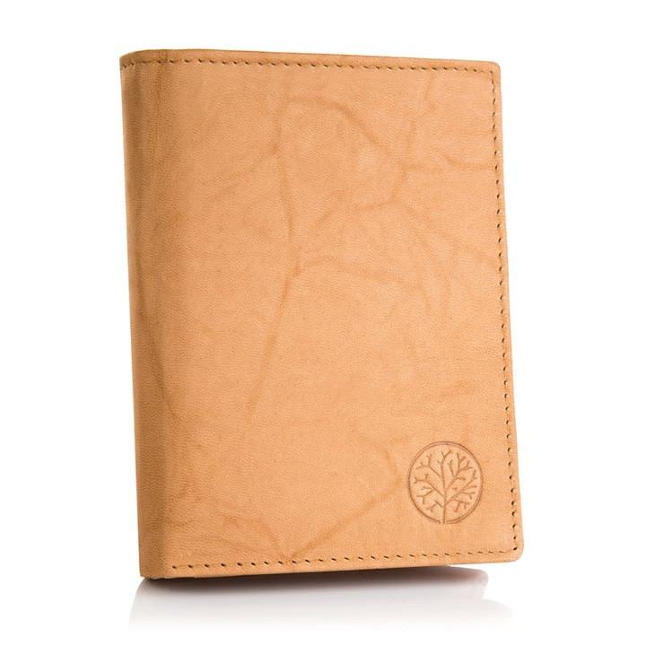 Чоловічий шкіряний гаманець Betlewski з RFID 12,9 х 10 х 2,5 (BPM-GTAN-62) - пісочний