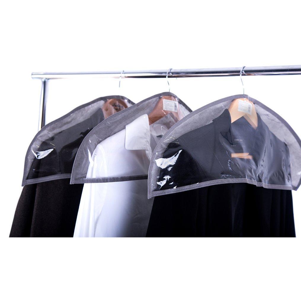 Комплект накидок-чехлов для одежды 3 шт Organize серые HN3-grey SKL34-222113