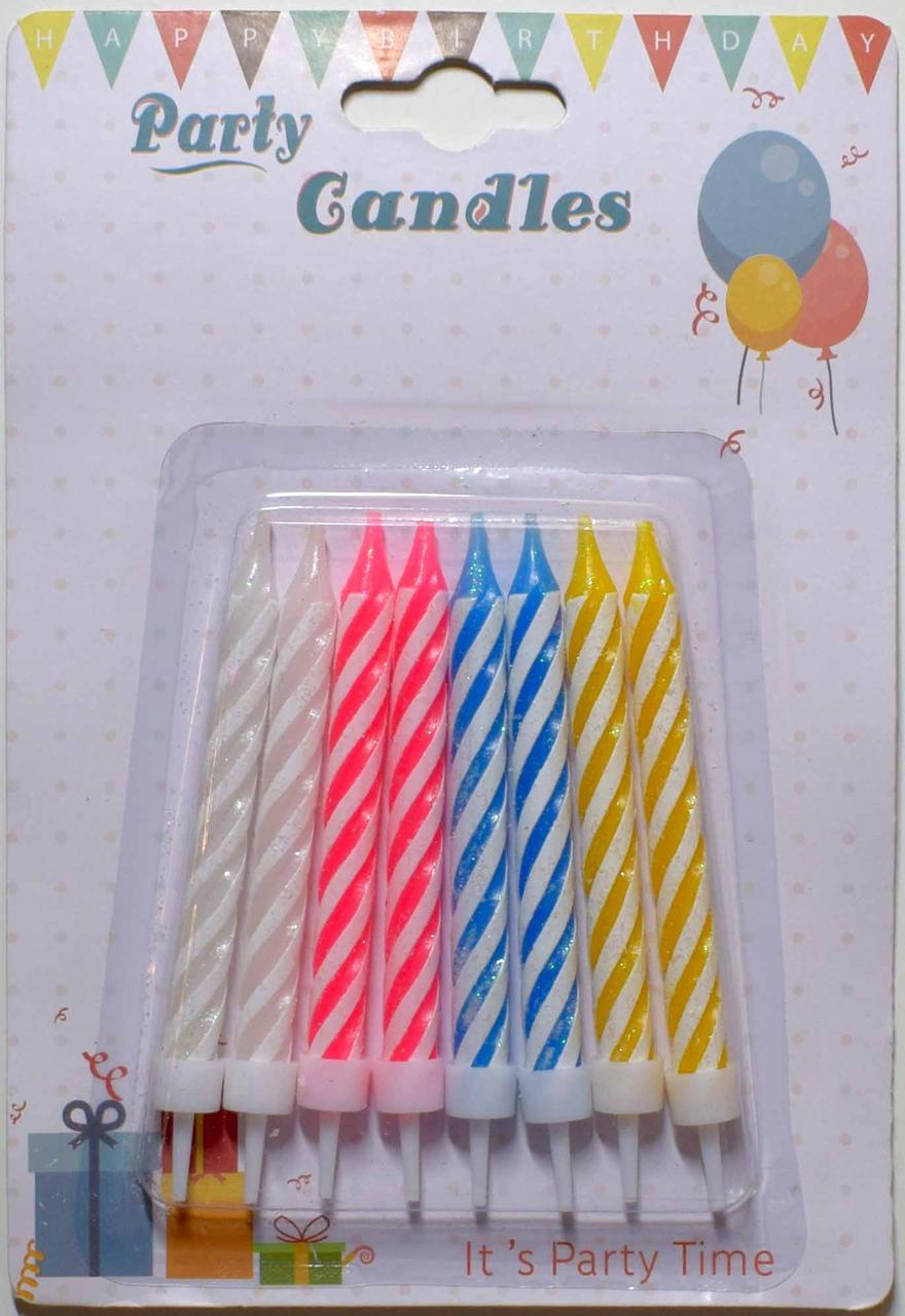 Свечи для торта S 08С, В упак: 8 шт.