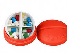 Контейнер для таблеток на 4 отделения красный SKL32-152647