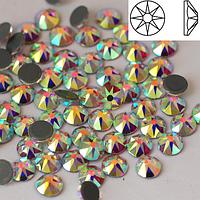 Стразы SWAROVSKI XIRIUS 16 граней (копия) Crystal АВ SS20 Hot Fix 1440 шт. Термо стразы