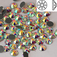 Стразы SWAROVSKI XIRIUS 16 граней (копия) Crystal АВ SS16 Hot Fix 1440 шт. Термо стразы