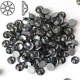 Термо стразы копия SWAROVSKI XIRIUS 16 граней (8+8) BLACK DIAMOND SS20 Hot Fix 1440 шт., фото 2