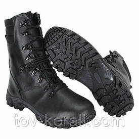 Берцы зимние Алеут Gore-Tex кожаные чёрные
