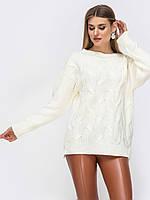 S-L Повседневный свитер из мягкой пряжи с удлиненной спинкой
