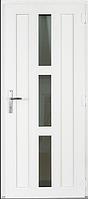 Пластиковая межкомнатная дверь белая с замком