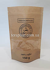 Пакет Дой-Пак крафт с окном 150г 130х200 с печатью, фото 3