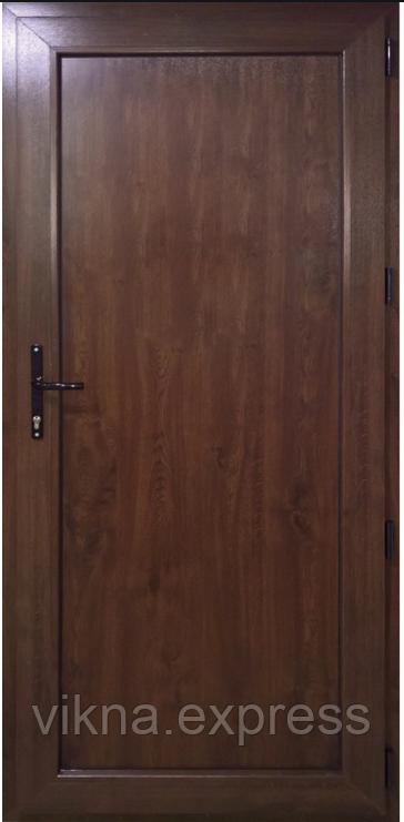 Пластиковая межкомнатная дверь ламинация дуб