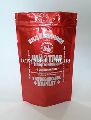 Пакет Дой-Пак красный 100г 130х200 с печатью в 1 цвет, фото 2