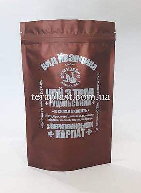 Пакет Дой-Пак красный 100г 130х200 с печатью в 1 цвет, фото 3