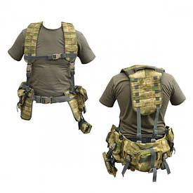 Поясно-плечевая разгрузочная система КУШАК 6+16 Combat СпН A-tacs FG