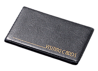 Визитница для 24 визиток винил, Panta Plast, черная (0304-0002-01)