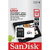 Карта памяти SanDisk microSD Class 10 UHS-I Ultra SDSQUNS-128G-GN6TA (128GB, Class10, UHS-I, 80MB/s), фото 2
