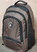 Рюкзак городской легкий вместительный коричневый (Турция)