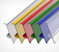 Ценникодержатель стеллажный HL Display TEN белый, держатели для ценников 1225*42мм б/у