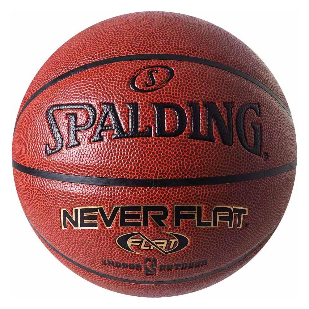 Мяч баскетбольный Spalding NBA Neverflat Indoor/Outdoor Коричневый Размер 7 (029321740969)