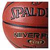 Мяч баскетбольный Spalding NBA Neverflat Indoor/Outdoor Коричневый Размер 7 (029321740969), фото 2