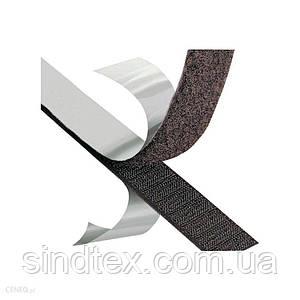 23м. Липучка клеевая 2см самоклеющаяся, ЧЕРНАЯ (Velcro) (653-Т-0526)