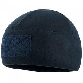 M-Tac шапка флисовая с велкро Watch Cap Elite dark navy blue