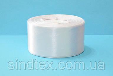 Лента атласная 4 см № 01/01 Белый (UMG-0957)
