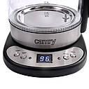 Стеклянный чайник 1,7 л Camry CR 1242  с регулировкой температуры, фото 6