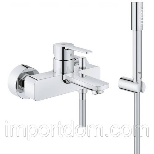 Смеситель для ванны с душевым гарнитуром Grohe Lineare new 33850001 хром
