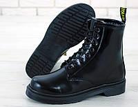 Ботинки зимние Dr.Martens женские, черные, материал - кожа, внутри - мех, подошва - ЭВА, код KD-11946