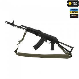 M-Tac ремень оружейный двухточечный с карабином олива