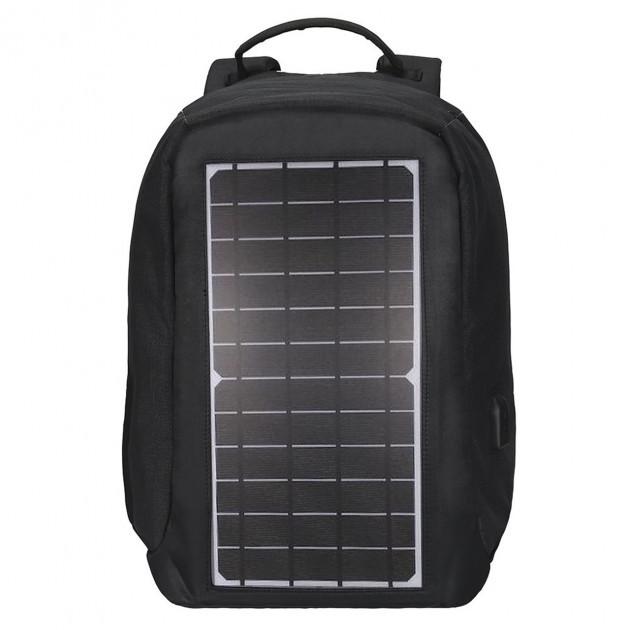 Рюкзак Eceen ECE-681S Black с солнечной панелью зарядка USB-портом дышащий компьютерный рюкзак антивор