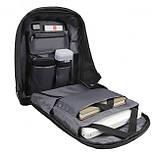 Рюкзак Eceen ECE-681S Black с солнечной панелью зарядка USB-портом дышащий компьютерный рюкзак антивор, фото 2