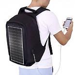 Рюкзак Eceen ECE-681S Black с солнечной панелью зарядка USB-портом дышащий компьютерный рюкзак антивор, фото 3