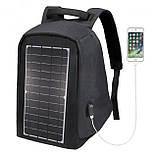 Рюкзак Eceen ECE-681S Black с солнечной панелью зарядка USB-портом дышащий компьютерный рюкзак антивор, фото 5