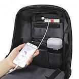 Рюкзак Eceen ECE-681S Black с солнечной панелью зарядка USB-портом дышащий компьютерный рюкзак антивор, фото 6