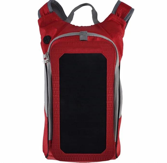 Рюкзак WEDO B017 Рюкзак с солнечной панелью, 6,5Вт, USB, Красный (SUN0422)