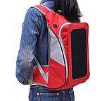Рюкзак WEDO B017 Рюкзак с солнечной панелью, 6,5Вт, USB, Красный (SUN0422), фото 2
