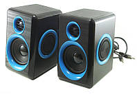 Компьютерные колонки акустика 2.0 USB FnT FT-165 Black-Blue np20789, КОД: 197596