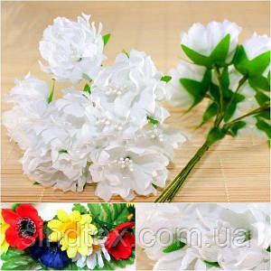 Хризантема Элит букетик, диаметр цветка~3,5-4см  (цена за букет из 6шт) Цвет - Белый (сп7нг-0649)