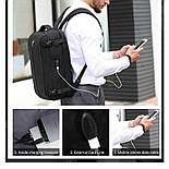 Рюкзак Poso (PS-629) Anti-theft backpack Black, фото 5