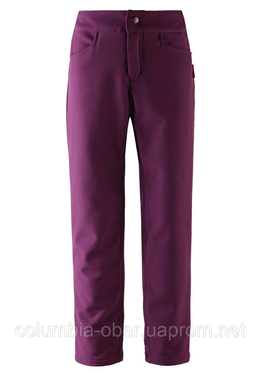 Демисезонные брюки для девочки Softshell Reima Idea 532188-4960. Размеры 128 - 164.