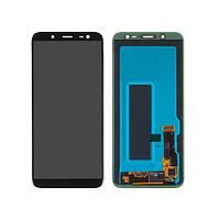 Дисплей SAMSUNG J600 Galaxy J6 (2018) с черным тачскрином, с регулируемой подсветкой