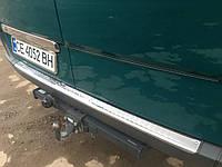 Накладка на бампер задний Глянцевая (Carmos, сталь) Mercedes Sprinter 2006-2018 гг.