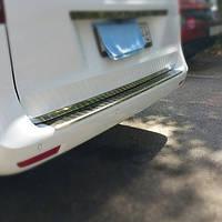 Накладка на задний бампер OmsaLine (нерж) Mercedes Vito / V W447 2014↗ гг.