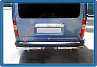 Накладка на задний бампер OmsaLine (нерж.) Ford Connect 2006-2009 гг.
