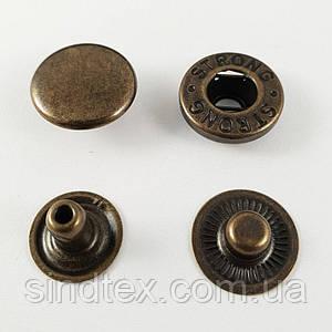 Кнопка №54 12,5мм Антик 720шт. (СТРОНГ-0207)