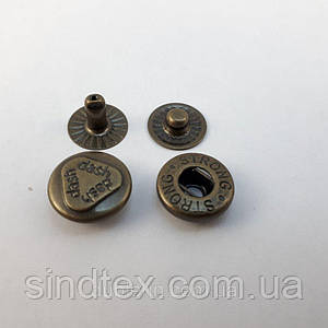 Кнопка №54 12,5мм Антик dash 720шт. (СТРОНГ-0208)