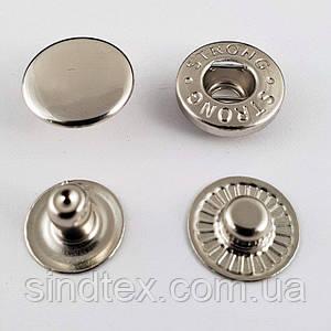 Кнопка №54 12,5мм Никель 720шт. Нержавейка (СТРОНГ-0330)