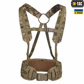 M-Tac пояс тактический с плечевыми ремнями Scout MM14