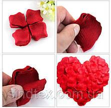 (100шт) Лепестки роз, искусственные Цена за упаковку Цвет - Малиновый с белым (сп7нг-0936), фото 3